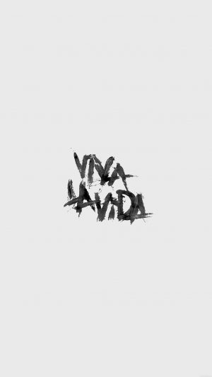 Viva La Vida Logo Music Art White iPhone 7 wallpaper