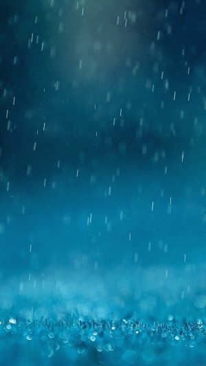Wallpaper Blue Rain Finkle Nature iPhone 7 wallpaper