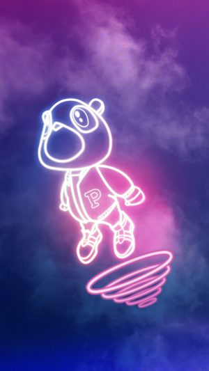 Wallpaper Drop Out Bear Of Kanye Illust Music iPhone 7 wallpaper