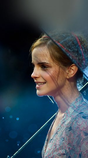 Wallpaper Emma Watson In Rain Girl Film Face iPhone 7 wallpaper