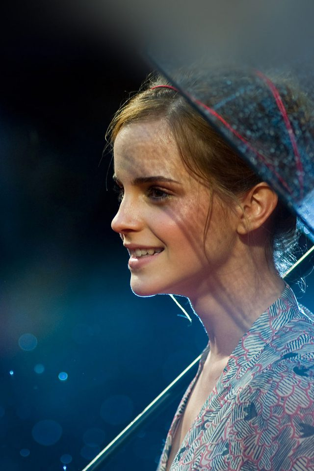 Wallpaper Emma Watson In Rain Girl Film Face iPhone wallpaper