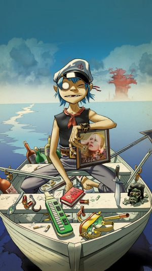 Wallpaper Gorillaz Boat Illust Music iPhone 7 wallpaper