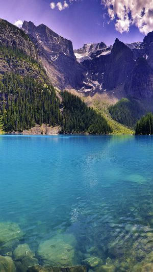 Wallpaper Green Dive Lake River Nature Mountain iPhone 7 wallpaper