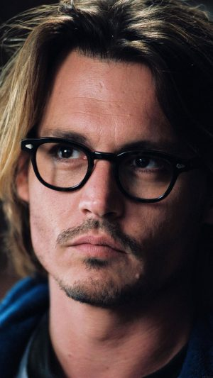 Wallpaper Johnny Depp Glass Film Actor Face iPhone 7 wallpaper