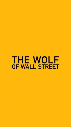 Wallpaper The Wolf Of Wallstreet Yellow Film Logo iPhone 7 wallpaper