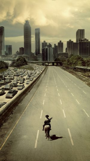 Wallpaper Walking Dead City Film iPhone 7 wallpaper
