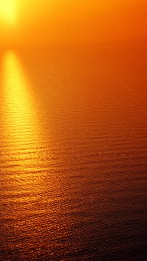 Water Ocean Red Sunset Nature Texture Pattern iPhone 7 wallpaper