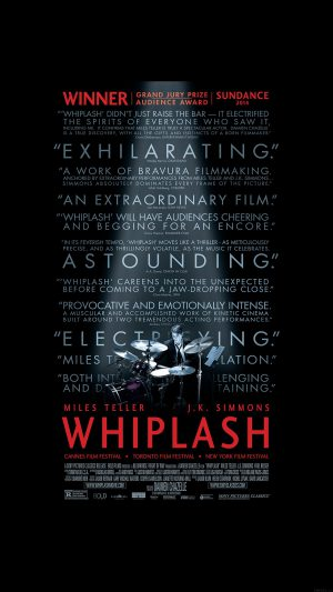 Whiplash Poster Film Music Drum Dark iPhone 7 wallpaper