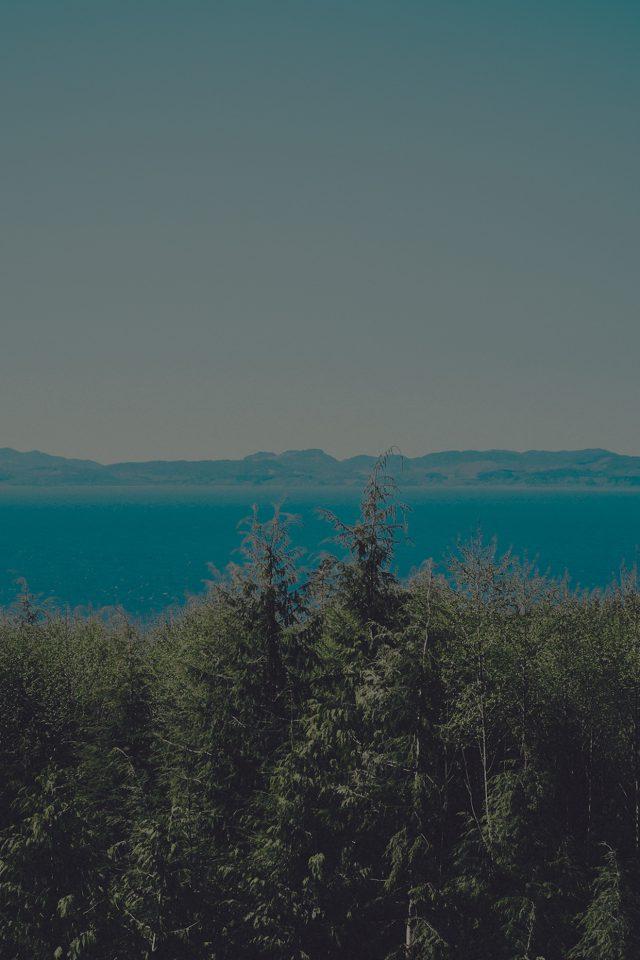 Wood Lake Blue Nature Water Dark Mountain Iphone 7 Wallpaper