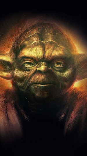 Yoda Starwars Art Dark Illlust Film Poster iPhone 7 wallpaper