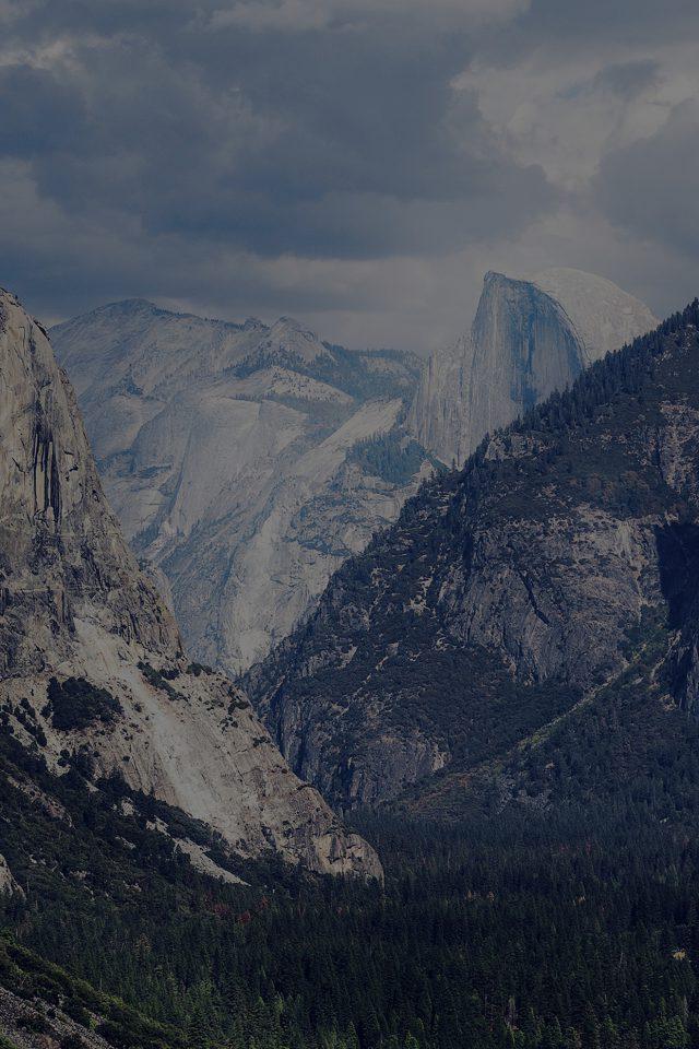 Yosemite Mountain Nature Rock Sky Forest Cloud Dark Iphone 7