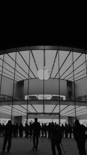 Apple Store Event City Architecture Dark iPhone 7 wallpaper