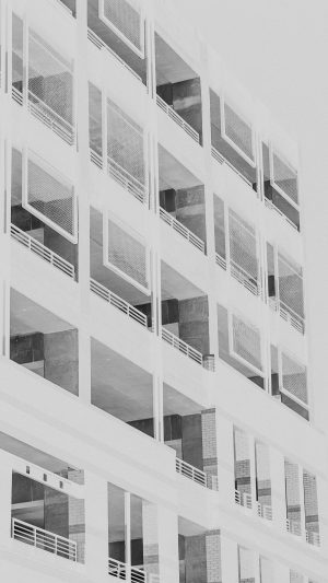 Bw Night Building Window White Architecture City iPhone 7 wallpaper