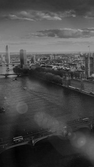 England London Dark Bw Skyview City Flare Big Ben Nature iPhone 7 wallpaper