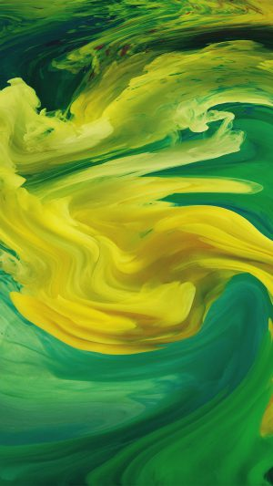 Hurricane Swirl Abstract Art Paint Green Pattern iPhone 7 wallpaper