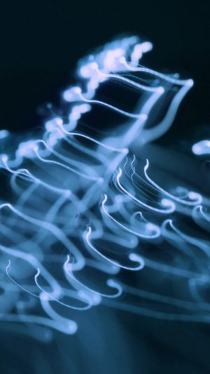 Ink Blue Soft Dark Smoke Bokeh Pattern iPhone 7 wallpaper