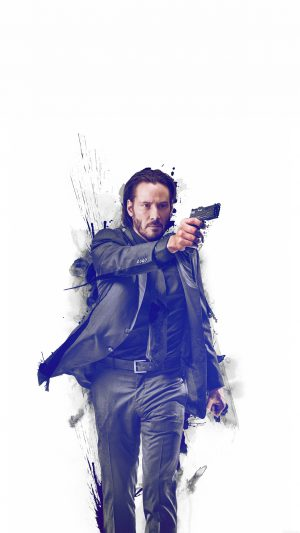 John Wick Movie Poster Art Actor iPhone 7 wallpaper