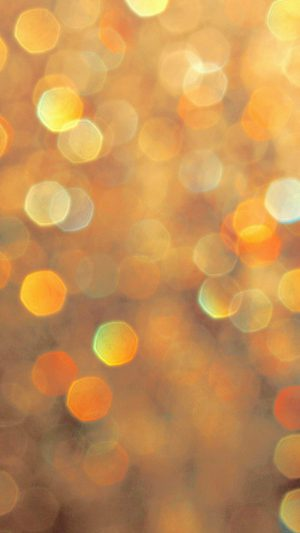 Light Bokeh Orange Pattern iPhone 7 wallpaper