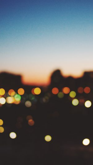 Light Bokeh Sunset City iPhone 7 wallpaper
