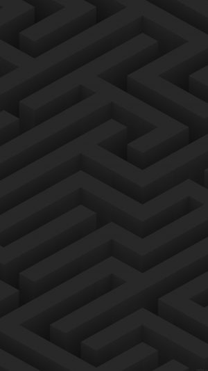 Maze Art Dark Abstract Patterns iPhone 7 wallpaper