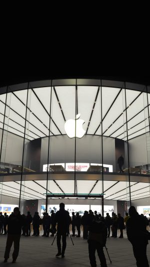 Photo Apple Store Event City Architecture iPhone 7 wallpaper