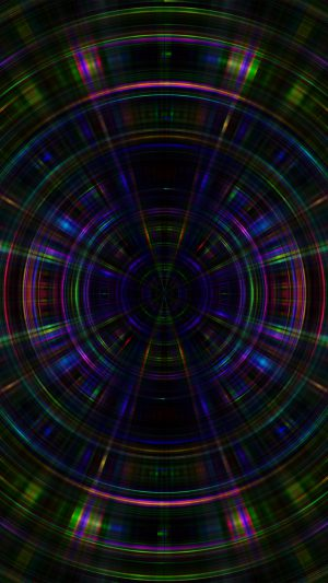 Psychic Color Circle Abstract Dark Rainbow Pattern iPhone 7 wallpaper