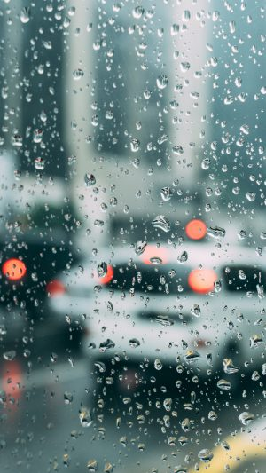 Rain Window Bokeh Art Car Sad iPhone 7 wallpaper