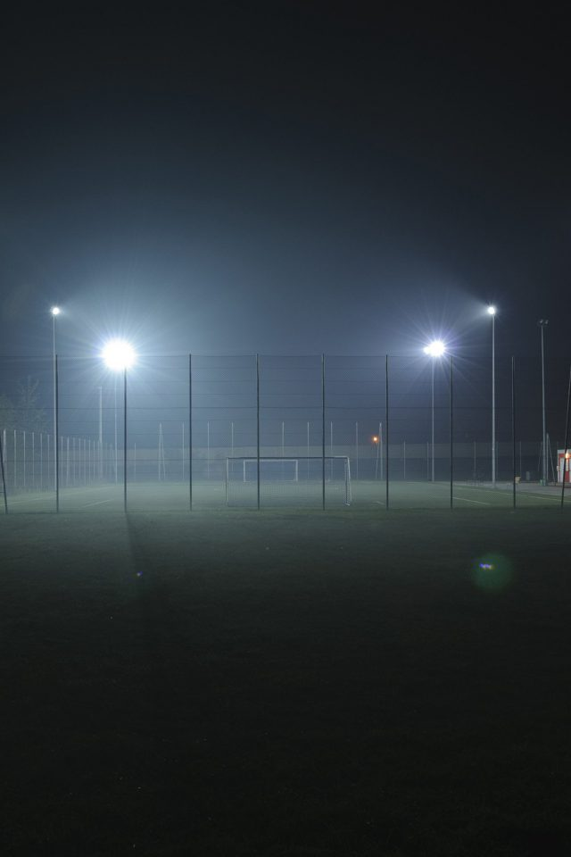 Soccer Field City Night Light Dark iPhone wallpaper