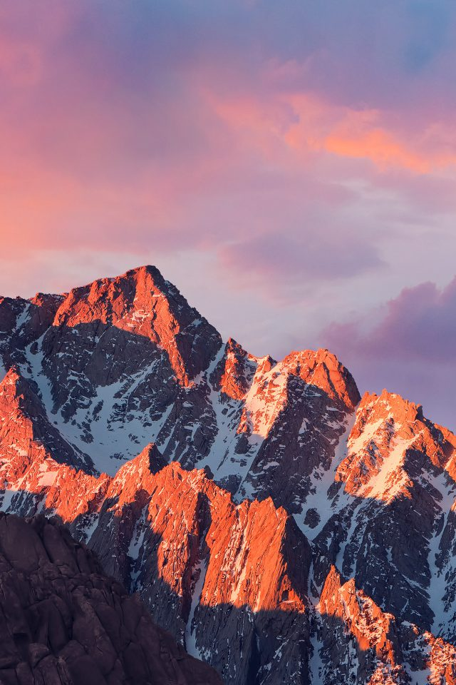 4k Sierra Apple Wallpaper Art Mountain Sunset IPhone