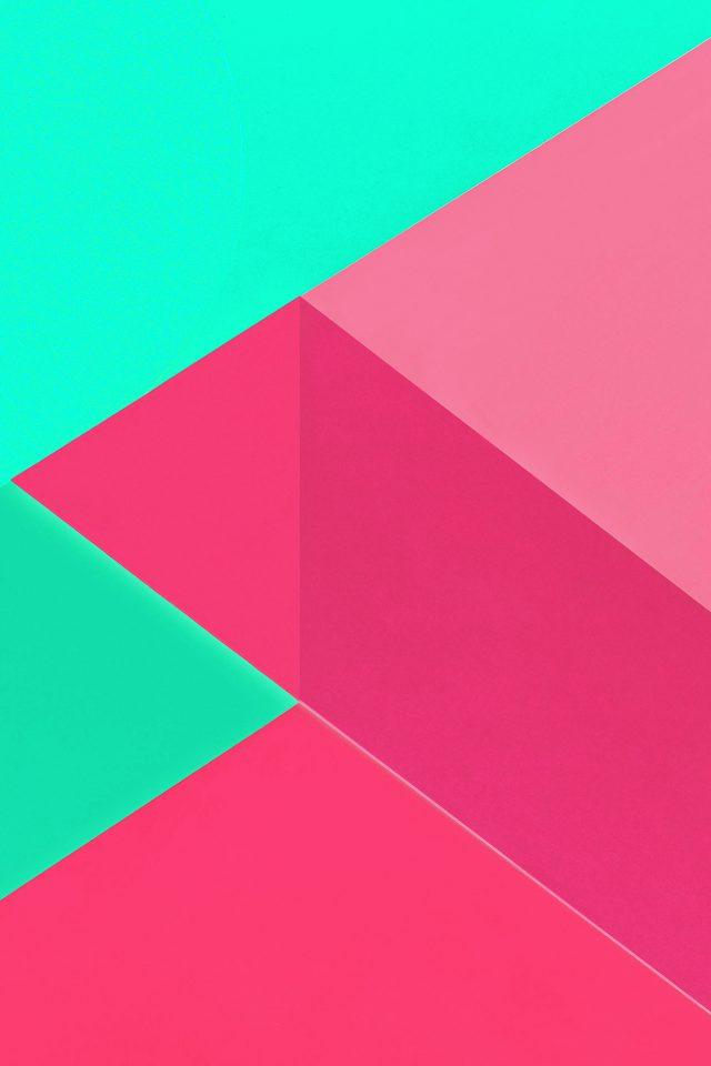 Android Marshmallow New Green Pink Pattern iPhone wallpaper