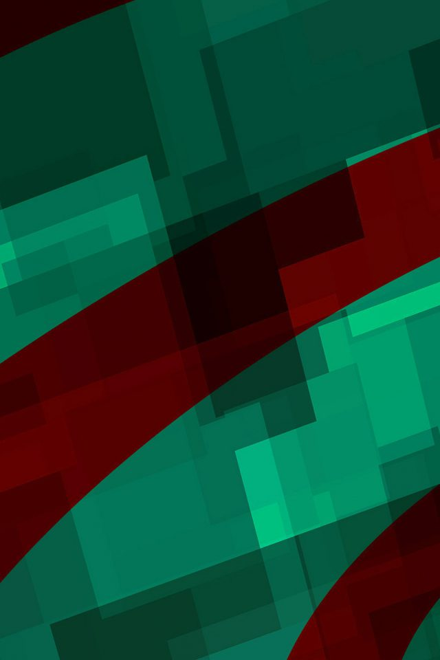 Art Green Red Block Angle Abstract Pattern IPhone Wallpaper
