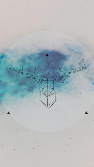 Art Illust Deer Space Cool iPhone 7 wallpaper