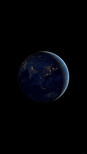 Asia At Night Earth Space Dark iPhone 7 wallpaper