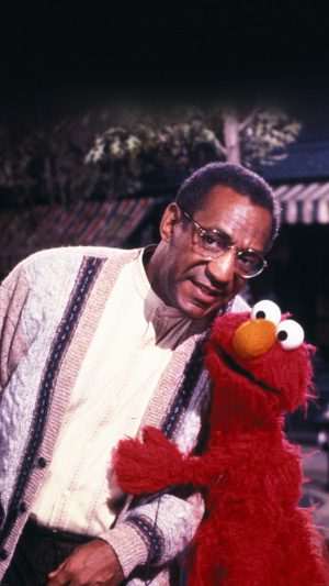Bill Cosby With Sesame Street Elmo iPhone 7 wallpaper