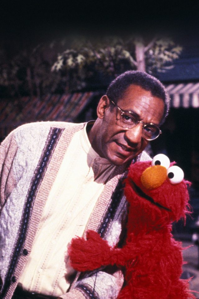 Bill Cosby With Sesame Street Elmo iPhone wallpaper