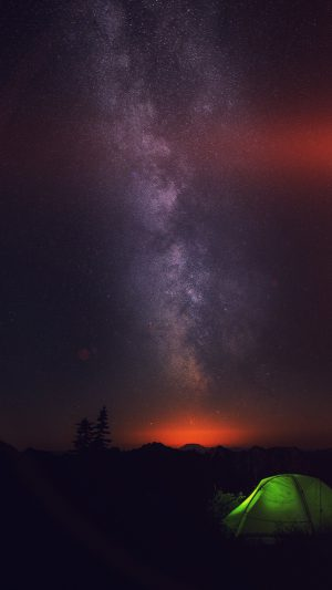 Camping Night Star Galaxy Milky Sky Dark Space iPhone 7 wallpaper