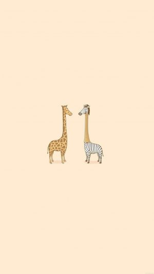 Cute Giraffe Yellow Animal Minimal iPhone 7 wallpaper