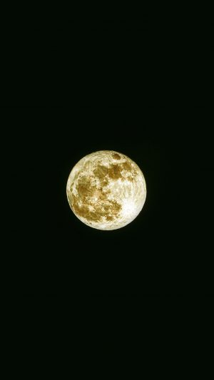 Damian Moon Yellow Dark Nature Space Sky iPhone 7 wallpaper