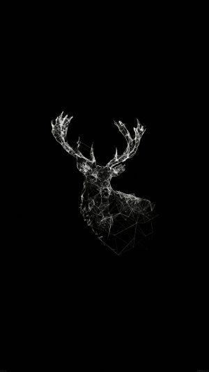 Deer Animal Illust Dark iPhone 7 wallpaper