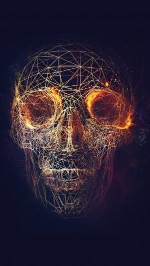 Digital Skull Dark Abstract Art Illustration iPhone 7 wallpaper