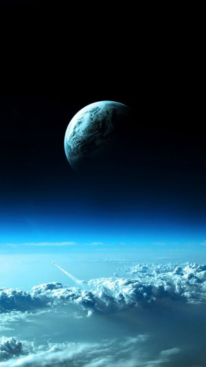 Earth View From Earth Space iPhone 7 wallpaper