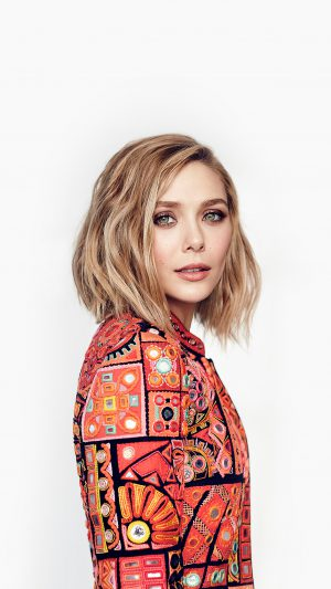Elizabeth Olsen Stellar Magazine Art Celebrity iPhone 7 wallpaper