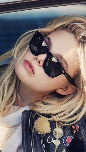 Elle Fanning Model Glasses Cute iPhone 7 wallpaper