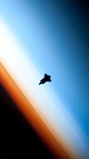 Endeavor Horizon Spaceship From Space iPhone 7 wallpaper