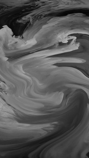 Hurricane Swirl Abstract Art Paint Dark Bw Pattern iPhone 7 wallpaper