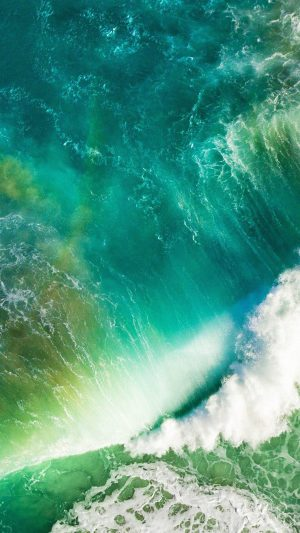 Ios10 Apple Iphone7 Wave Waterfall Official Art Illustration iPhone 7 wallpaper