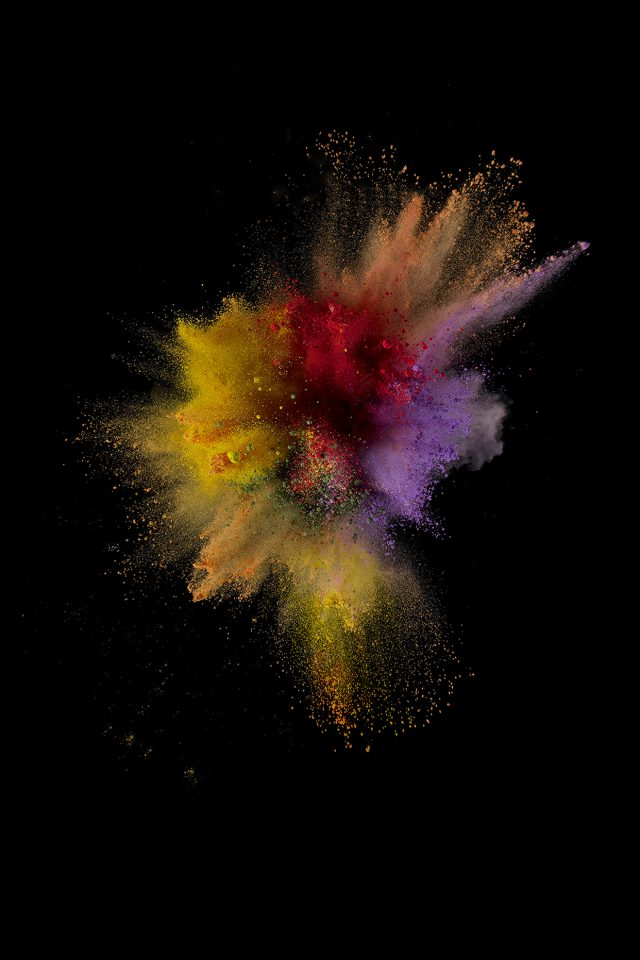 Ios9 Sparkle Color Red Yellow Apple Crayon Dark Iphone 7 Wallpaper