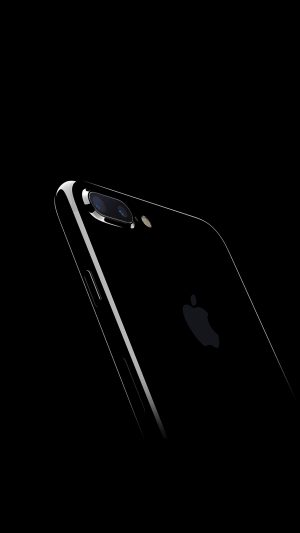 Iphone7 Jetblack Dark Apple Ios10 Art Illustration iPhone 7 wallpaper