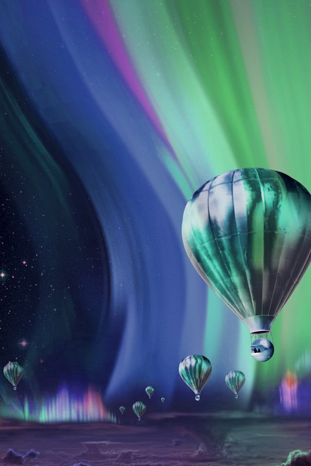 Jupiter Aurora Space Sky Art Illustration Blue iPhone wallpaper