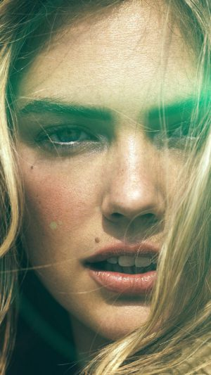 Kate Upton Face Photoshoot Hote Celebrity Model Flare iPhone 7 wallpaper
